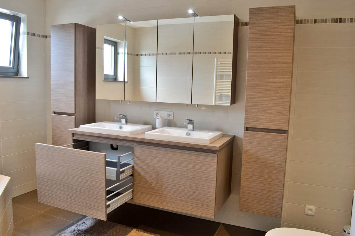 Badkamer meubel op maat op maat ontwerp badkamermeubels